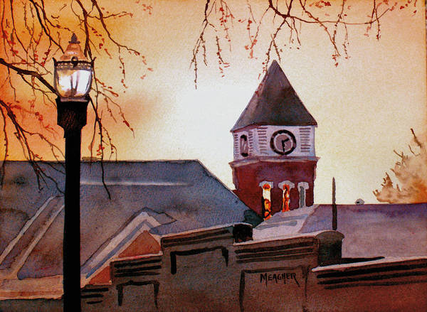 Courthouse Painting - Dawn's Early Light by Spencer Meagher