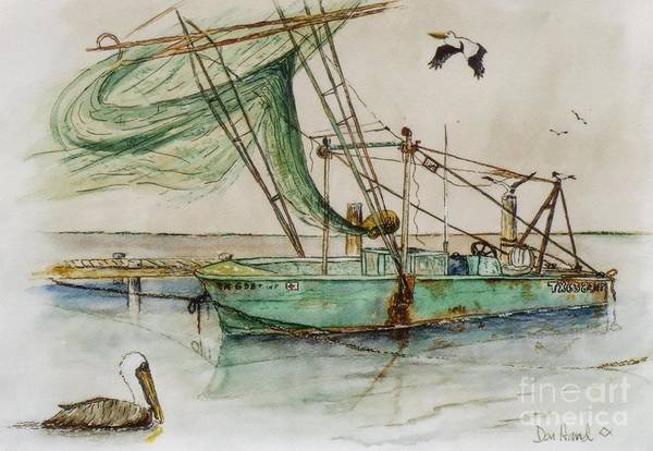 Pelican Mixed Media - Day Off by Don Hand