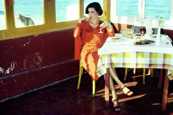 Dodecanese Photograph - Dayle Haddon Wearing Missoni by Jacques Malignon