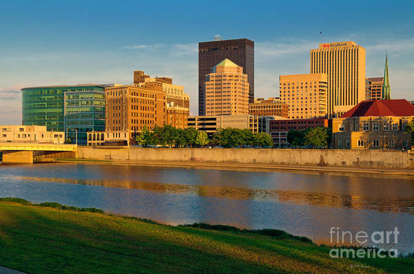 D4u-379 Dayton Skyline Photo Art Print