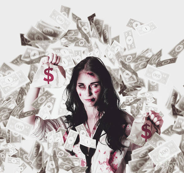 Financial Crisis Wall Art - Photograph - Dead Business Woman In Financial Crisis Debt by Jorgo Photography - Wall Art Gallery