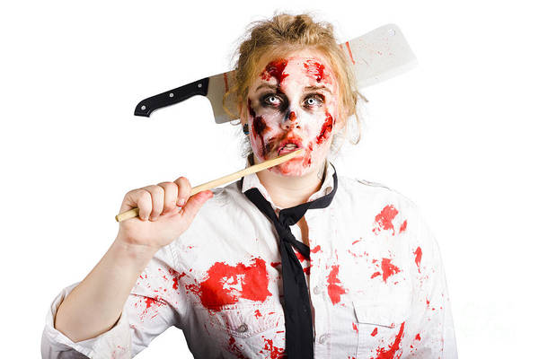 Disgusting Photograph - Dead Chef With Wooden Spoon. Kitchen Nightmare by Jorgo Photography - Wall Art Gallery