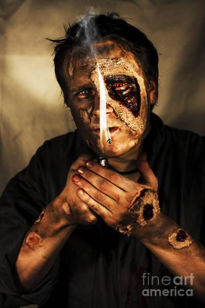 Voodoo Photograph - Dead Man Smoking by Jorgo Photography - Wall Art Gallery