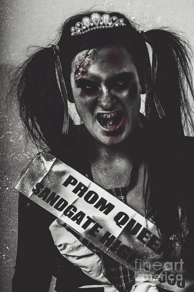 Bad Hair Wall Art - Photograph - Dead Prom Queen At High School Reunion  by Jorgo Photography - Wall Art Gallery