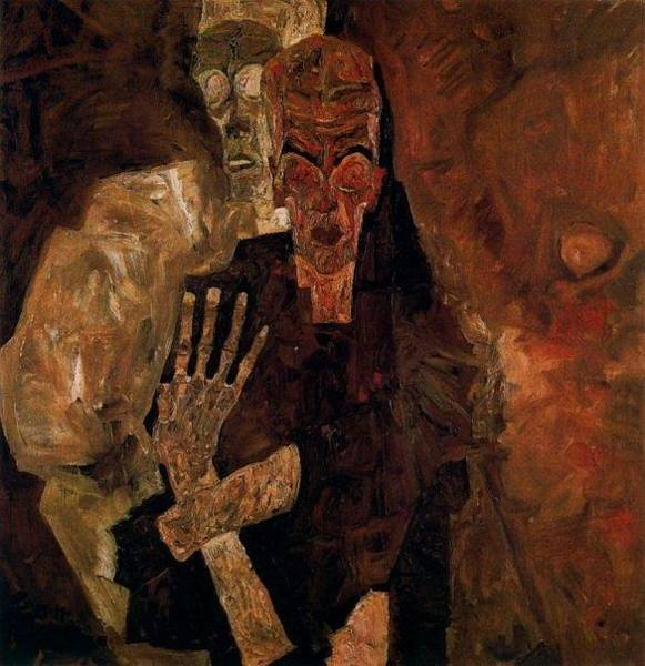 Painting - Death And Man by Celestial Images