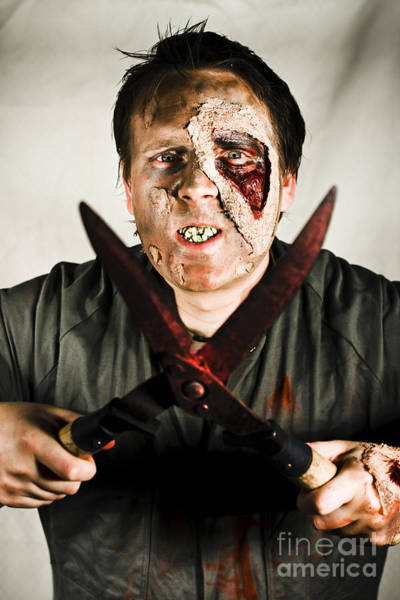 Blades Photograph - Death By Zombie by Jorgo Photography - Wall Art Gallery