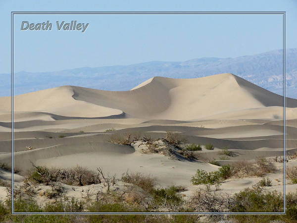 Death Valley Np Photograph - Death Valley National Park - Mesquite Sand Dunes I by Patti Deters
