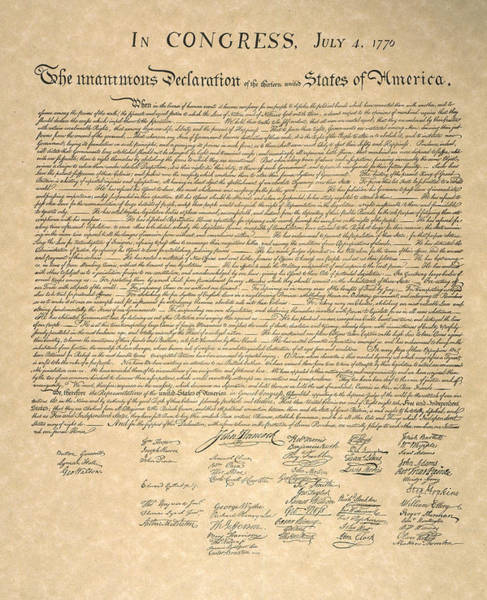 Photograph - Declaration Of Independence by Granger
