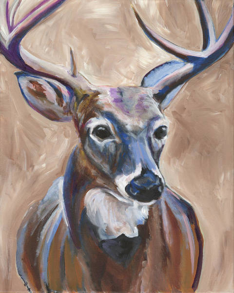 Camping Wall Art - Painting - Deer by Anne Seay