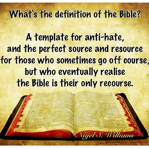 Wall Art - Photograph - Definition Of The Bible by Nigel Williams