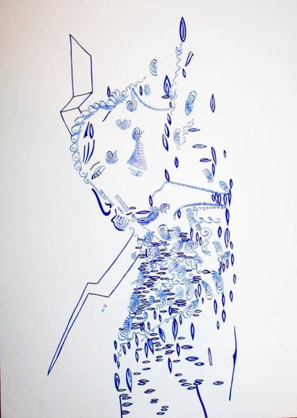 Dinka People Drawing - Deity - Nhialic - South Sudan by Gloria Ssali