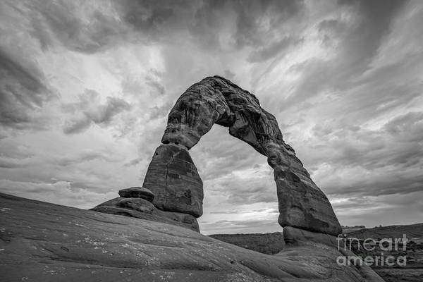 Delicate Arch Photograph - Delicate Arch Bw by Michael Ver Sprill