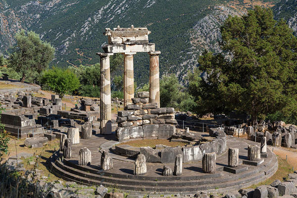 Grecian Photograph - Delphi, Phocis, Greece. The Tholos by Panoramic Images