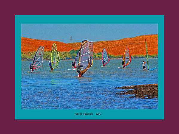 Digital Art - Delta Wind Surfing  by Joseph Coulombe