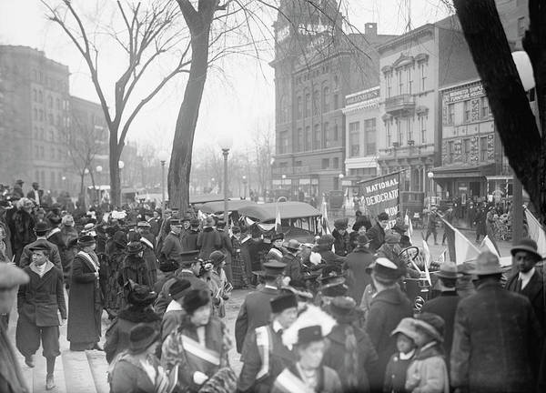 Wall Art - Photograph - Democratic Women, Woman Suffrage, 1914 by Stocktrek Images