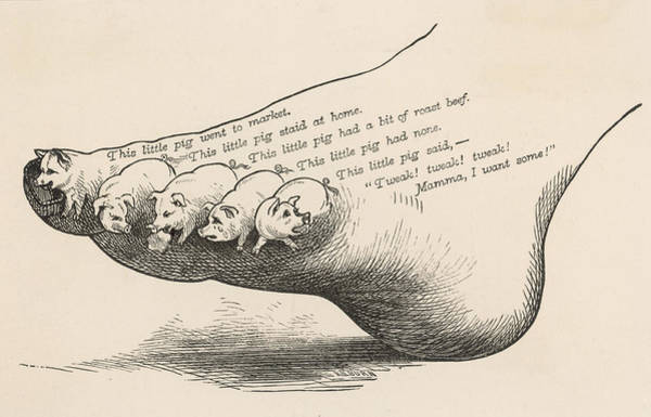 Wall Art - Drawing - Depiction Of The Nursery Rhyme, This by Mary Evans Picture Library
