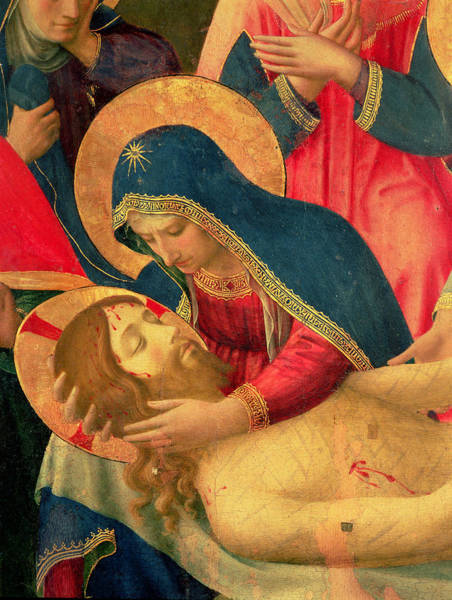 Mourning Painting - Deposition From The Cross by Fra Angelico
