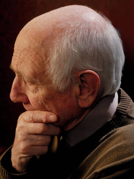 Psychiatry Photograph - Depressed Man by Kate Jacobs/science Photo Library