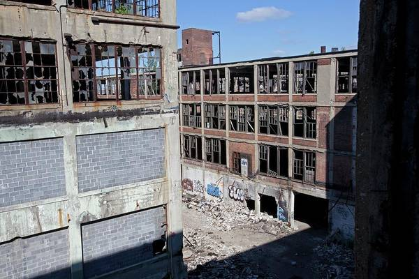 Manufacturing Plant Wall Art - Photograph - Derelict Car Factory by Jim West