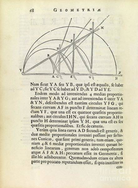 Proportionality Wall Art - Photograph - Descartes' Mesolabe by Royal Astronomical Society
