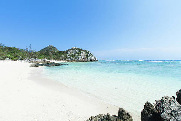 Okinawa Photograph - Deserted White Sand Tropical Beach by Ippei Naoi
