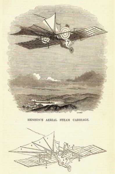 1812 Photograph - Design For The Aerial Steam Carriage by Universal History Archive/uig