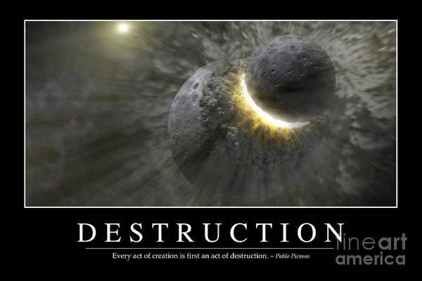 Color Burst Digital Art - Destruction Inspirational Quote by Stocktrek Images