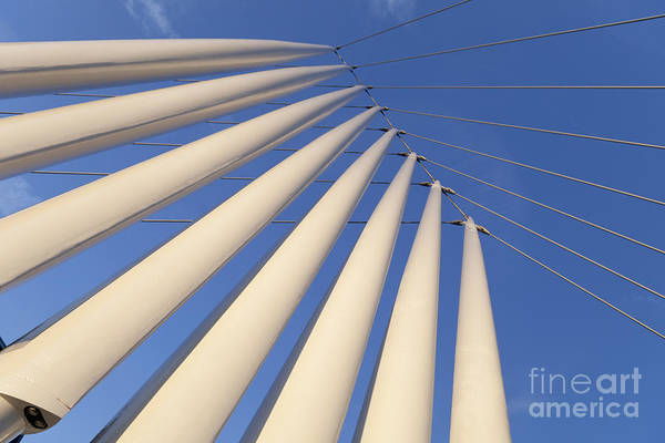Greater Manchester Wall Art - Photograph - Detail Of The Mediacityuk Swing Footbridge by Roberto Morgenthaler
