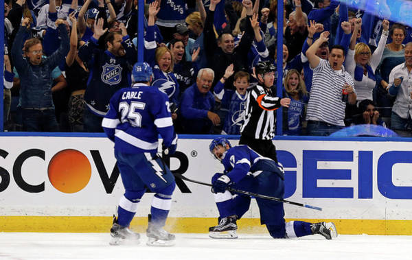 Stanley Cup Playoffs Photograph - Detroit Red Wings V Tampa Bay Lightning by Mike Carlson