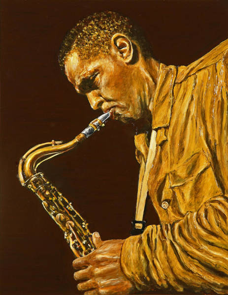 Sax Painting - Dexter Gordon by Rudy Browne