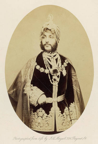Singh Drawing - Dhuleep Singh  Briefly The Sikh by Mary Evans Picture Library