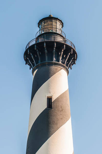 Photograph - Diagonal Black And White Stripes Mark The Cape Hatteras Lighthou by Alex Grichenko