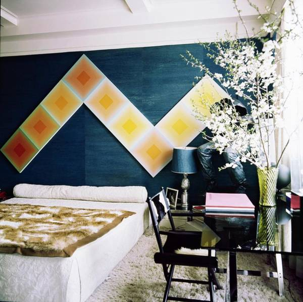 Modernist Photograph - Diane Von Furstenberg's Bedroom by Horst P. Horst