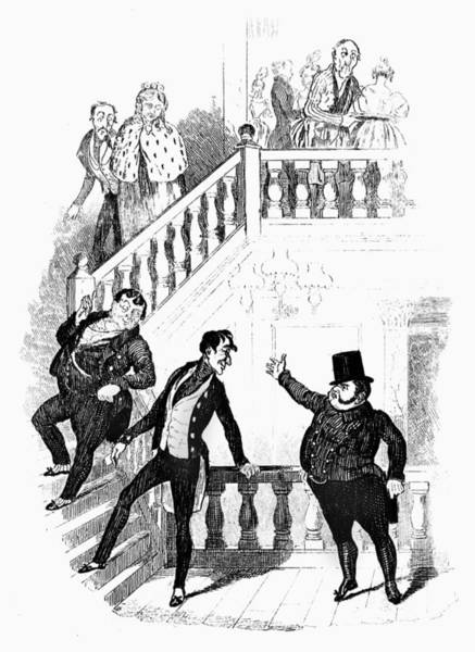 Baluster Wall Art - Painting - Dickens Pickwick Papers by Granger