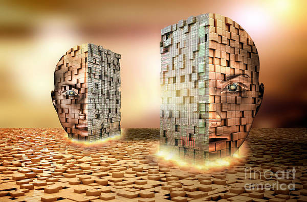 Photograph - Digital Head by Mike Agliolo