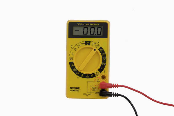 Voltage Photograph - Digital Multimeter by Science Stock Photography/science Photo Library