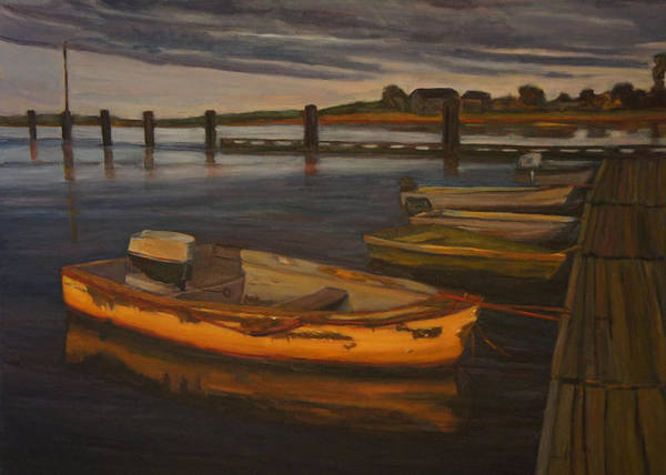 Painting - Dingys Pierside by Jeremy McKay