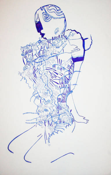 Dinka People Drawing - Dinka Motherhood - South Sudan by Gloria Ssali
