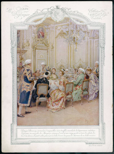 Wall Art - Drawing - Dinner In An Aristocratic French Home by Mary Evans Picture Library