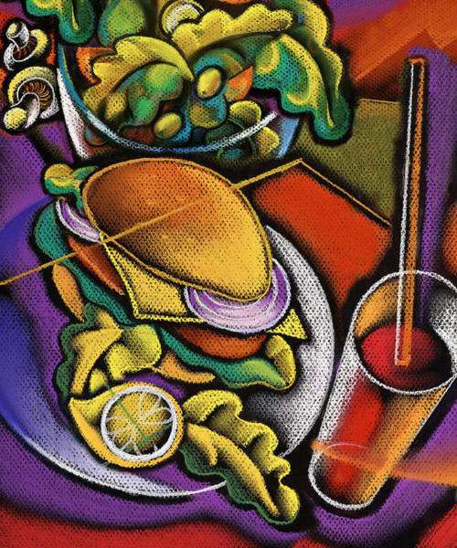 Feast Painting - Food And Beverage by Leon Zernitsky