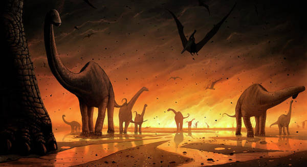 Wall Art - Photograph - Dinosaur Extinction by Mark Garlick/science Photo Library