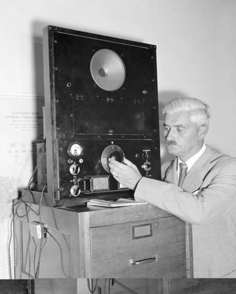 Czechoslovakian Photograph - Diplomat Listens To Radio Broadcast, by Science Photo Library