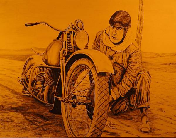 Wall Art - Drawing - Dispatch Rider by Charles Rogers