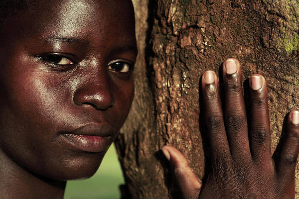 Uganda Wall Art - Photograph - Displaced Ugandan Teenager by Mauro Fermariello/science Photo Library