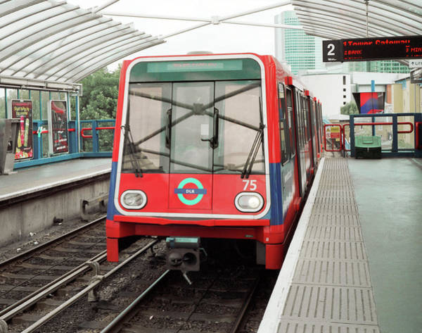Wall Art - Photograph - Dlr Train by Robert Brook/science Photo Library