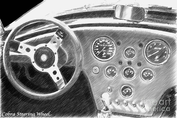 Photograph - Dn-cobra Oldtimer Steering Wheel by Heiko Koehrer-Wagner