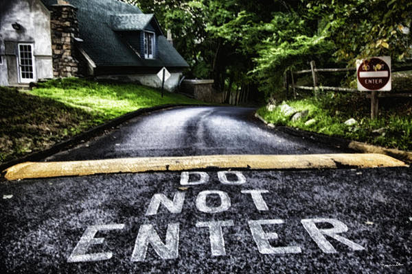 Houses Wall Art - Photograph - Do Not Enter by Madeline Ellis
