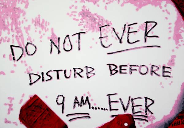 Ludzska Wall Art - Painting - Do Not Ever Disturb by Luis Ludzska