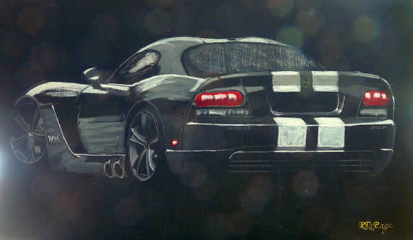 Painting - Dodge Viper 2 by Richard Le Page