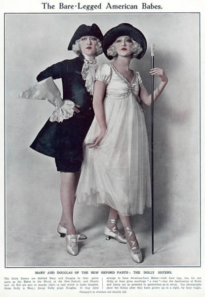 Wall Art - Photograph - Dolly Sisters  Jenny And Rosie by Mary Evans Picture Library